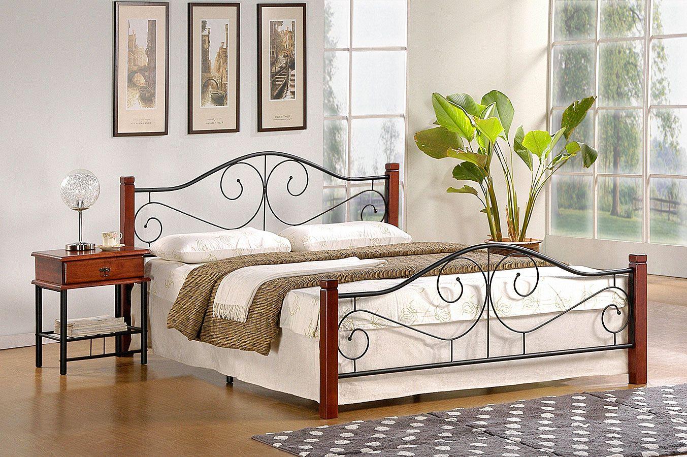 Metalowe łóżka idealne do sypialni w stylu industrialnym